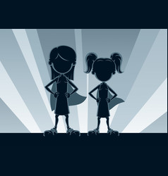 super girls silhouettes vector image