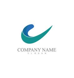 swirl 3d company logo vector image