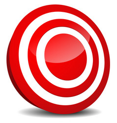 Target icon aim precision luck bulls eye target vector