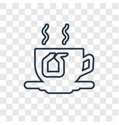 Tea concept linear icon isolated on transparent vector