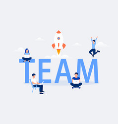team work design concept vector image