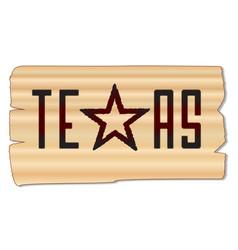 Texas brand vector