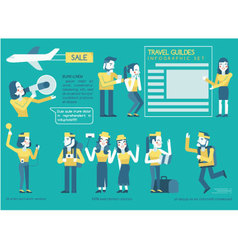 Travel guides Infographics set vector