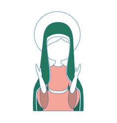 Virgin mary cartoon vector