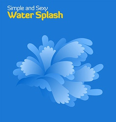 water splashes vector image