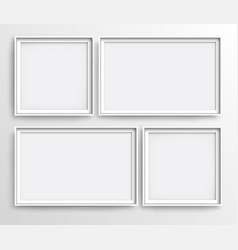 white realistic frames vector image