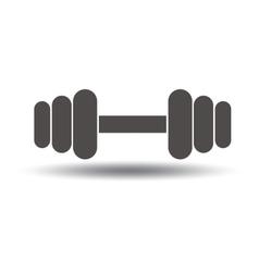 Barbell icon Sport symbol vector image