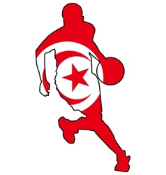 basketball colors of Tunisia vector image vector image