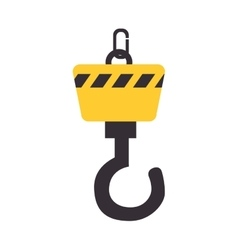 crane construction equipment icon vector image vector image