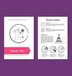 diagram data and business liability vector image