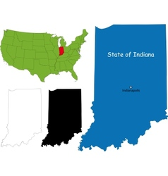 Indiana map vector image vector image