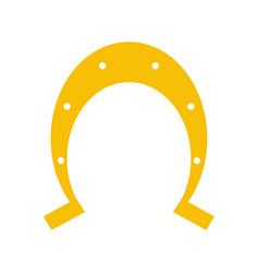 isolated horseshoe icon image vector image