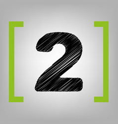 number 2 sign design template elements vector image vector image