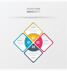 rectangle presentation yellow blue pink color vector image vector image
