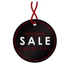 sale black round banner template design vector image