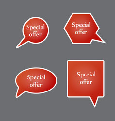special offer sign set sale symbol vector image