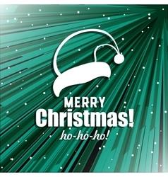 Xmas Postcard With Santas Hat vector image vector image