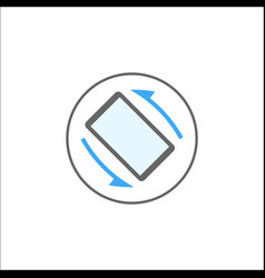 Auto rotation solid icon mobile sign vector