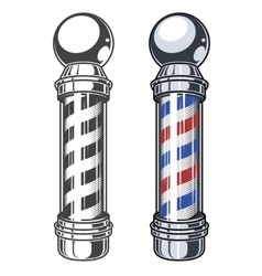 Classic Barber shop Pole vector image vector image