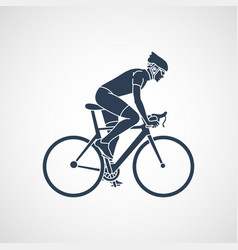 cycling race icon vector image vector image