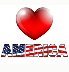 Heart AMERICA vector image vector image