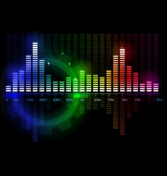 music sound wave spectrum vector image vector image