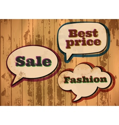 vintage sale speech bubbles vector image vector image