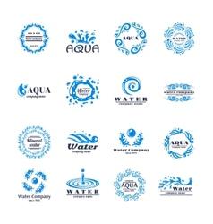 Water logo set vector