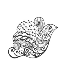 Zentangle stylized bird vector image vector image