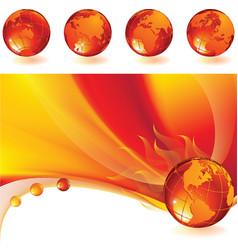 burning globe vector image