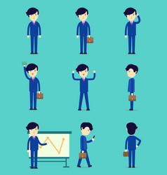 business smart man cartoon character design vector image