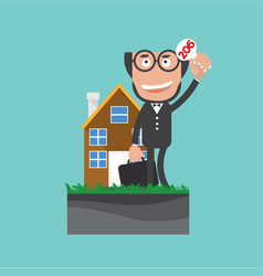 Businessman show bidding offer of the property vector