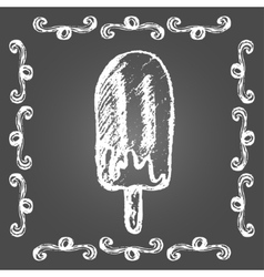 Chalk ice cream chocolate popsicle vector image vector image