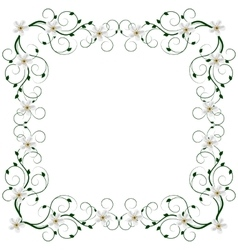 Delicate frame with flowers vector image