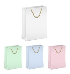 Empty shopping paper bags vector image vector image