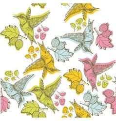 etching bird print vector image vector image