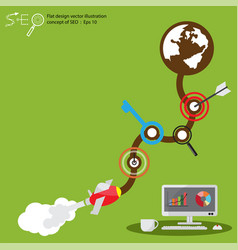 flat design concept of seo vector image vector image