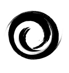 hand drawn with brush swirl spiral vector image vector image