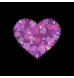 Heart From Hearts vector image vector image