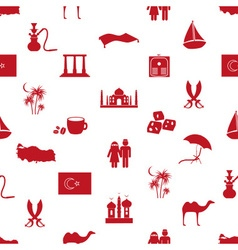 Turkey country theme symbols seamless pattern vector