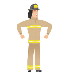 young caucasian angry firefighter screaming vector image