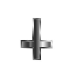 an inverted cross vector image vector image