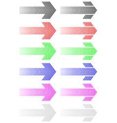 Arrow from decreasing dots vector