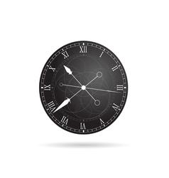 clock antique in grey vector image vector image