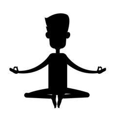 Yogi meditating icon image vector