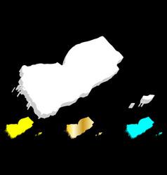 3d map of yemen vector