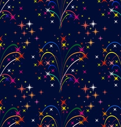 Background colorful fireworks vector image