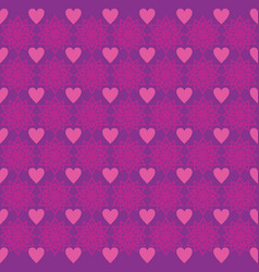 background love star ornament pattern purple vector image