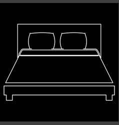 Bed the white path icon vector