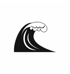 Big wave icon simple style vector image